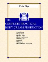 BODY CREAM PRODUCTION